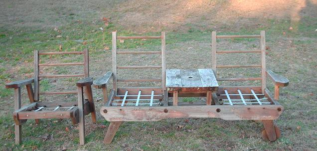 Vintage Redwood Patio 2 Pieces Furniture. - Quality Antique Stuff And More